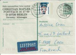 """1965 - Entier Postal """"Zeche Zollern"""" + Complément D'affranchissement Pour La France Tp Nefertiti N° Yvert 1230 - DDR"""