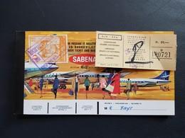 Billet Avion Sabena Bruxelles- Palma-Bruxelles  Publicité Agfa Color Au Dos Gevaert Complet - Plane