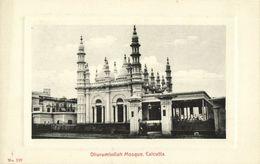 India, CALCUTTA KOLKATA, Dhurumtollah Mosque, Islam (1910s) Embossed Postcard - India