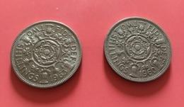 GRAN BRETAGNA  - 1963  Moneta 2 SHILLINGS - Elisabetta II - Altri