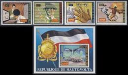 Upper Volta Haute Volta Obervolta 1973 Mi 467 /0 + B17 YT 296 /9 ** Interpol - 50th Ann. Intern. Police Organization - Police - Gendarmerie