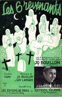 LES SIX REVENANTS - ( FANTOMES AU CIMETIERE ) - CAMI / JO BOUILLON - 1939 - DESSIN WIRTH - EXC ETAT - - Música & Instrumentos