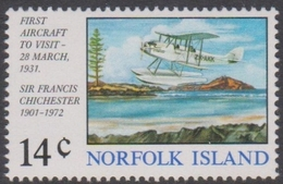Norfolk Island ASC 154 1974 Chichester Flight, Mint Never Hinged - Norfolk Island