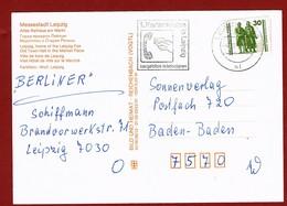 Telecom Werbestempel 1. Kartentelefon Leipzig Auf Karte - Stamps