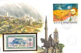 FDC Mit 1 Lek Bankfrisch 1976  & Block  Albanien - Albania