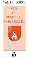 PUBICITE VINS DE ST NICOLAS DE BOURGUEIL - Non Classés