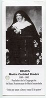 Santino Antico BEATA MADRE CARIDAD BRADER Con RELIQUIA (Ex-Indumentis) - OTTIMO P100 - Religion & Esotérisme