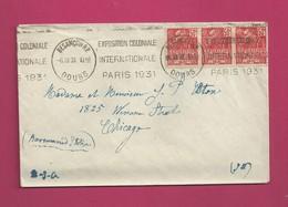Lettre De 1931 Pour Les EUAN - YT N° 272 En Bande De 3 - Exposition Coloniale Internationale De Paris - France