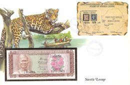 FDC Mit Geldschein 50 Cents Bankfrisch & Block 1984 Sierra Leone - Sierra Leone