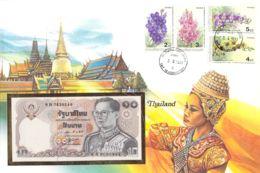 FDC Mit Geldschein 10 Baht Bankfrisch  Thailand - Thailand