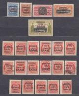Greece Crete Revolution 1922, Overprint Collection Of Some Rare Pieces, Mint Hinged - Kreta
