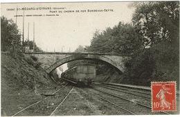 CPA Saint-Médard-d'Eyrans 33. Pont De Chemin De Fer Bordeaux-Cette. 1908 - Andere Gemeenten
