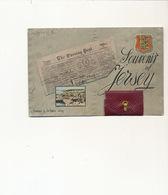 Jersey Souvenir Carte Systeme Depliant Newspaper The Evening Post . Light Defects - Jersey