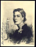TEATRO ESPAÑOL - MARGARITA XIRGU Autograph Dedicacee 1946 By Moreno Photo 23 X 17 Numerada De Carbonilla Ramón Subirats - Fotos Dedicadas