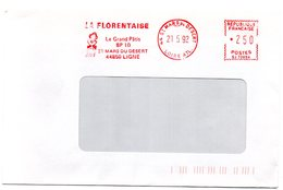 LOIRE ATLANTIQUE - Dépt N° 44 = St MARS Du DESERT 1992 = EMA Illustrée = LA FLORENTAISE - Postmark Collection (Covers)