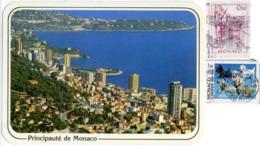 PRINCIPAUTE' DE MONACO  Monte-Carlo  Vue Générale Et Le Cap-Martin  Nice Stamps  Dogs Terriers - Monte-Carlo