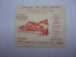 74 HAUTE-SAVOIE - CARTE 1958 MEGEVE L'HOTEL HERMITAGE EST OUVERT TOUTE L'ANNÉE - Megève