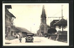 AK Farvagny, Ortspartie Mit Kirche - FR Fribourg