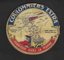 Ancienne Etiquette Fromage Coulommiers Extra Laiterie Hauser Fabriqué Dans La Marne Grand Prix Expo Universelle Paris 19 - Kaas