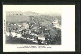 AK Fribourg, Ecole D'Agriculture De Hauterive, L'Ecole Et La Ferme A Vol D'oiseau - FR Fribourg