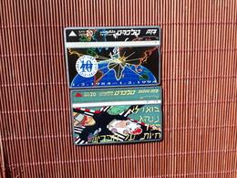 2 Phonecards Israel 402 E + 528 HUsed - Israel