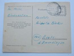 1946 , 12 Pfg. Ganzsache Aus Kirchzarten - Zone Française