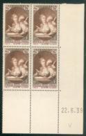 Lot 2019 France Coin Daté N° 446 Du 22/6/1939 (**) - Dated Corners
