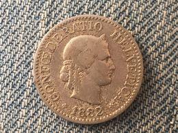 1882 Swiss Helvetica 10 Rappen Coin - Switzerland
