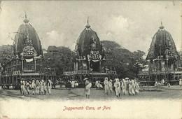 India, PURI, Juggernath Cars, Juggernaut Hindu (1906) Postcard - India