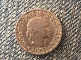 1885 Swiss Helvetica 5 Rappen Coin - Switzerland