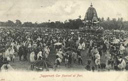 India, PURI, Juggernath Car Festival, Juggernaut Hindu (1906) Postcard - India