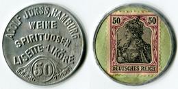 N93-0575 Timbre-monnaie Lisette 50 Pfennig - Kapselgeld - Encased Stamp - Noodgeld