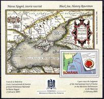 2014 Romania, Roumanie, Rumania, Rumänien - Map Black Sea History Rewritten, Crimea ,Snake Island Block,MNH - Géographie
