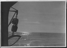 TRAMONTO SUL MARE - FORMATO 14,50X10 - ORIGINALE D'EPOCA FINE ANNI '40 - Barche