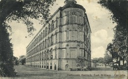 India, CALCUTTA KOLKATA, Dalhousie Barrack, Fort William (1910s) Postcard - India