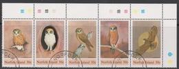 Norfolk Island ASC 336-340 1984 Boobook Owl, Used - Norfolk Island