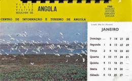 Afrique Africa Angola Calendário Calendrier Calendar 1968 Chaque Mois Une Carte Postale Détachable Postcard - Afrique