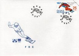 CZECH REPUBLIC  - 2014 Winter Olympics - Sochi, Russia  FDC6129 - FDC