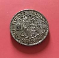 GRAN BRETAGNA  - ENGLAND - 1941 - 1/2 CROWN ARGENTO Giorgio VI - 1971-… : Monete Decimali