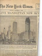 Jounal The New York Times Section 12 De 1929 - Nouvelles/ Affaires Courantes