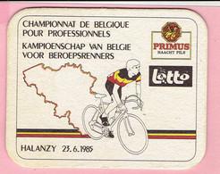 Bierviltje - Primus Haacht - Kampioenschap Van België Voor Beroepsrenners - HALANZY 1985 - Lotto - Sous-bocks
