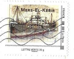 MonTimbraMoi MTM  - (2017) Mers-el-Kébir (Algérie, 1940).Navire Marchand. Lettre Verte 20 G. - Ships