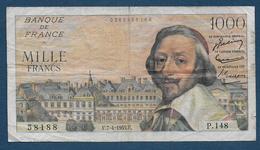 Billet 1000 Fr  Richeleu  Du 7 - 4 - 1955 - 1871-1952 Anciens Francs Circulés Au XXème