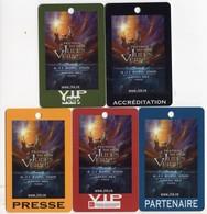 FRANCE LOT 5 BADGES FESTIVAL DU FILM JULES VERNE Avril 2005 Grand REX PARIS - Cinéma