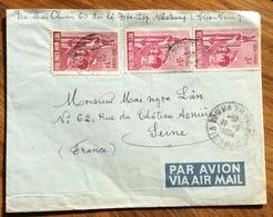 KATIANG VIETNAM  16/2/1964  ENVELOPO PATR AVION    TO SEINE FRANCE - Tailandia