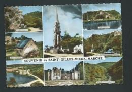 SAINT GILLES VIEUX MARCHE MULTIVUES  Cpsm Grand Format  Obe2914 - Saint-Gilles-Vieux-Marché