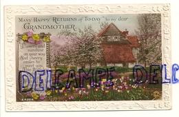 Voeux De Bon Retour. Many Happy Returns To-Day To My Dear Grandmother. Rotary Photo. Gaufrée. 1936 (?) - Fête Des Mères