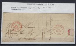 VOORLOPER 1829 VAN Doornik Naar Brussel Stempeltype 11 - 1815-1830 (Dutch Period)