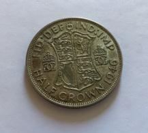 GRAN BRETAGNA  - ENGLAND - 1946 - 1/2 CROWN ARGENTO Giorgio VI - 1971-… : Monete Decimali