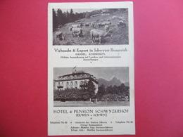 SEEWEN  ( SCHWYZ )  HOTEL & PENSION SCHWYZERHOF - SZ Schwyz